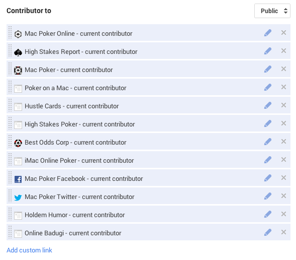 "LInk back to the site from your Google Plus profile under ""Contributor to"""